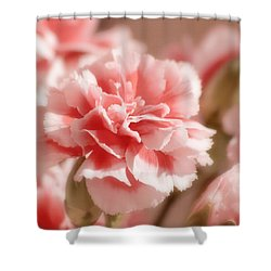 Think Pink Shower Curtain by Kim Hojnacki