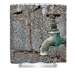 Thirsty Shower Curtain by Stelios Kleanthous