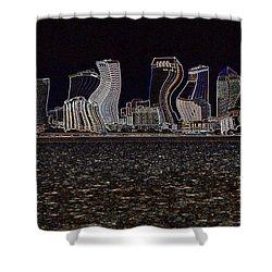 This City Is Rockin' Shower Curtain by Carol Groenen