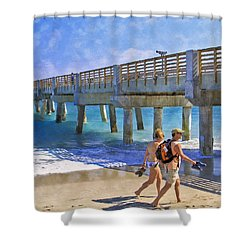This Side Of Paradise Shower Curtain by Debra and Dave Vanderlaan