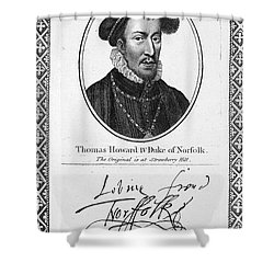 Thomas Howard (1536-1572) Shower Curtain by Granger