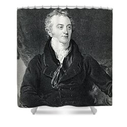 Thomas Young, English Polymath Shower Curtain by Photo Researchers