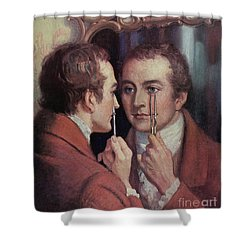 Thomas Young, English Polymath Shower Curtain by Science Source
