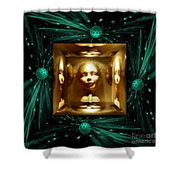 Thoughts Mirror Box Shower Curtain