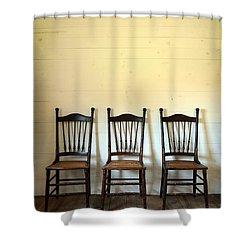 Three Antique Chairs Shower Curtain by Jill Battaglia
