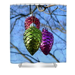 Shower Curtain featuring the photograph Three Cones by Richard Reeve