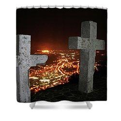 Three Crosses Shower Curtain