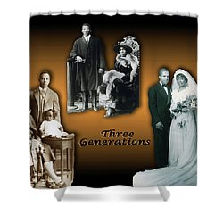 Three Generations Shower Curtain by Terry Wallace