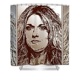 Three Interpretations Of Celine Dion Shower Curtain by J McCombie