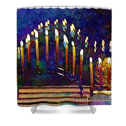 Three Menorahs Shower Curtain