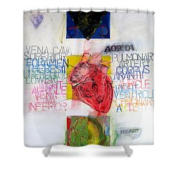 Shower Curtain featuring the painting Three Of Hearts 32-52 by Cliff Spohn