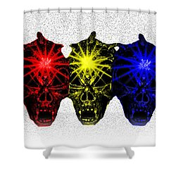 Shower Curtain featuring the photograph Three Skulls by Blair Stuart
