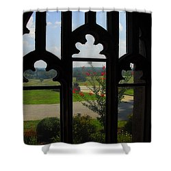 Through The Chapel Arches Shower Curtain by Cindy Manero