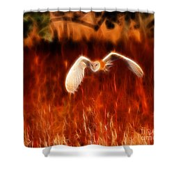 Through The Fire Shower Curtain by Beth Sargent