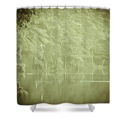 Through The Trees Shower Curtain by Kim Henderson