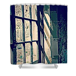 Shower Curtain featuring the photograph View Through The Window - Painterly Effect by Marilyn Wilson