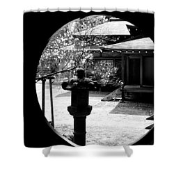 Through The Window Of Time Shower Curtain by Sebastian Musial