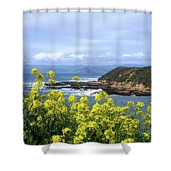Through Yellow Flowers Shower Curtain