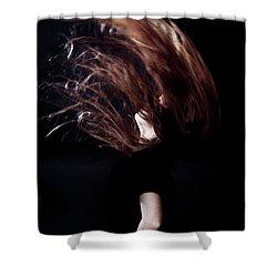 Throwing Hair Shower Curtain by Joana Kruse