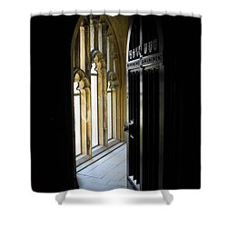 Shower Curtain featuring the photograph Thru The Chapel Door by Cindy Manero