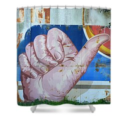 Thumbs Up Shower Curtain by Joe Jake Pratt