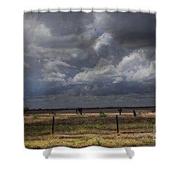 Thunder In The Distance Shower Curtain by Dinah Anaya