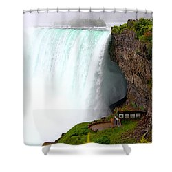 Shower Curtain featuring the photograph Thundering Force by Davandra Cribbie