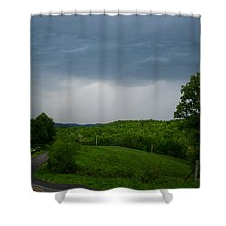 Shower Curtain featuring the photograph Thunderstorm by Kathryn Meyer