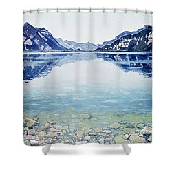 Thunersee Von Leissigen Shower Curtain by Ferdinand Hodler