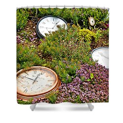 Thyme And Time Shower Curtain by Chris Thaxter