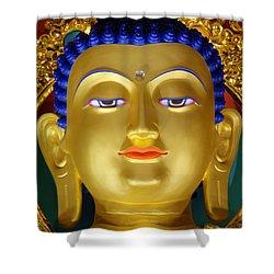 Tibetan Bhudda 3 Shower Curtain by Bob Christopher