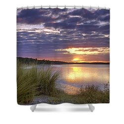 Tidal Estuary Shower Curtain by Phill Doherty
