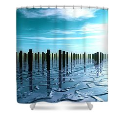 Tide Is Out... Shower Curtain