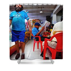 Tienda El Che Shower Curtain by Skip Hunt