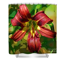 Tiger Lily Shower Curtain by Cindy Manero