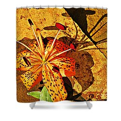 Tiger Lily Still Life  Shower Curtain by Chris Berry