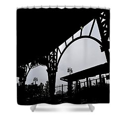 Tiger Stadium Silhouette Shower Curtain