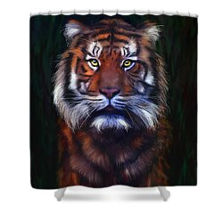 Tiger Tiger Shower Curtain by Michelle Wrighton