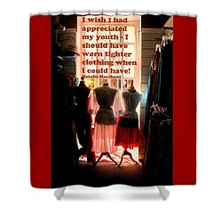 Tighter Clothing Shower Curtain by Ian  MacDonald