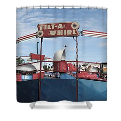 Tilt A Whirl Ride Shower Curtain