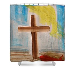 Tim Tebow's Cross-easter Monday Shower Curtain