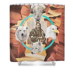 Time Passages Shower Curtain