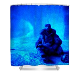 Time Stopped In A Huge Snow Ice  Grotte Shower Curtain by Colette V Hera  Guggenheim