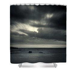 Time Shower Curtain by Stelios Kleanthous