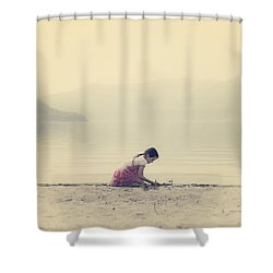 Time To Be Shower Curtain by Joana Kruse