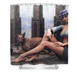 Time To Relax Shower Curtain by Jutta Maria Pusl