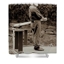 Shower Curtain featuring the photograph Timeless Serenity by Suzanne Stout