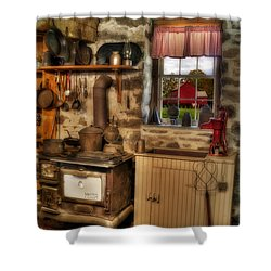 Times Gone By Shower Curtain by Susan Candelario