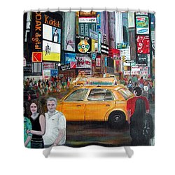 Times Square Shower Curtain by Anna Ruzsan
