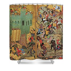 Timur And The Siege Of Smyrna 1402 Shower Curtain by Photo Researchers